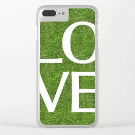 LOVE alphabet on the grass Clear iPhone Case