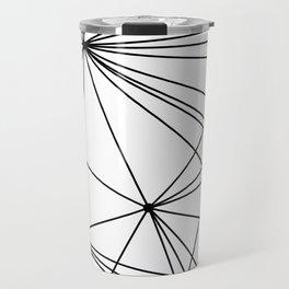White & Black geometric web Travel Mug