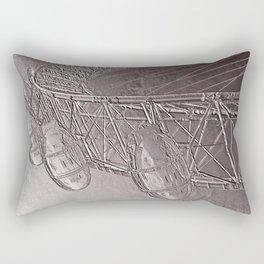 Embossed London Eye Rectangular Pillow