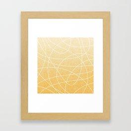 Scribble Linen - Sunflower Yellow Framed Art Print