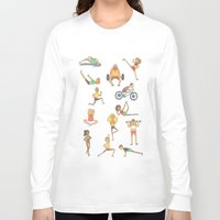 gym Long Sleeve T-shirts featuring Gym Buddies by Sid's Shop