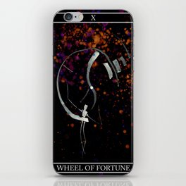 A Tarot of Ink Major Arcana X Wheel of Fortune iPhone Skin