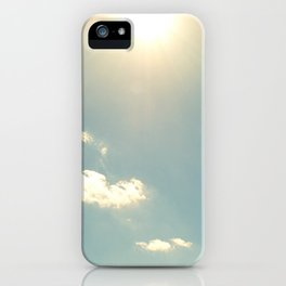 sunny sky iPhone Case