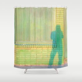 Shadow on Textures Shower Curtain