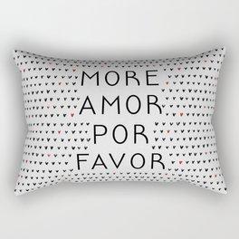 More Amor Black & Red Rectangular Pillow
