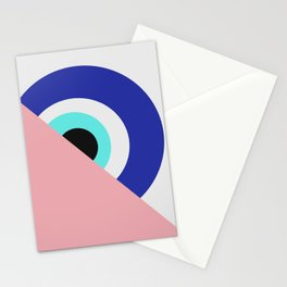 Devil eye pink hide Stationery Cards