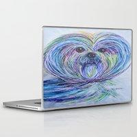 shih tzu Laptop & iPad Skins featuring Purse Pup - Shih Tsu by EloiseArt