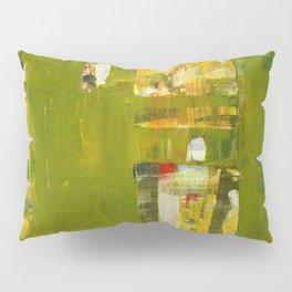 Iodine Green Abstract Art Modern Print Pillow Sham