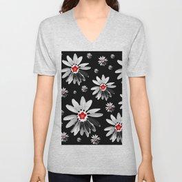 Floral design Unisex V-Neck