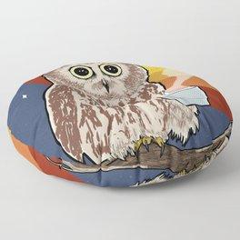 Coffee Owl Floor Pillow