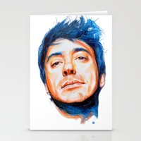 robert downey jr Stationery Cards featuring Robert Downey Jr. by KlarEm
