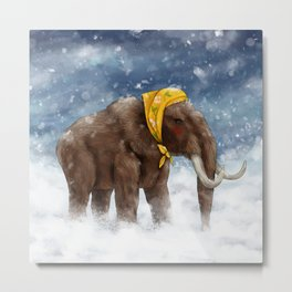 Babushka Mammoth Metal Print
