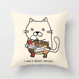dessertxkitty Throw Pillow