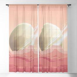 Life on the Titan Sheer Curtain