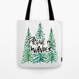 Prone to Wander - Green Tote Bag