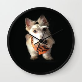 Wheaten King Of The House Wall Clock