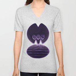 Moon Typography - Ultra Violet Unisex V-Neck