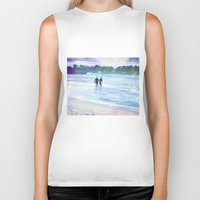 surfer Biker Tanks featuring Surfer Boys by Teresa Chipperfield Studios