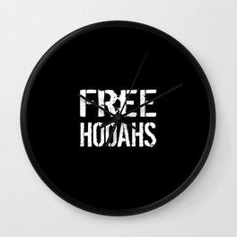 Free Hooahs Wall Clock