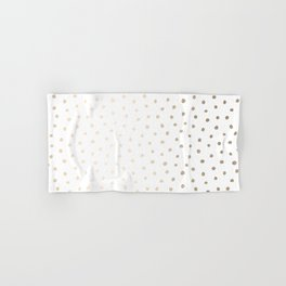 Golden Polka Dots Hand & Bath Towel