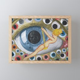 Eyes Wide Open Framed Mini Art Print
