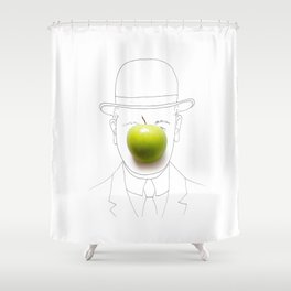 The Son of Man Shower Curtain
