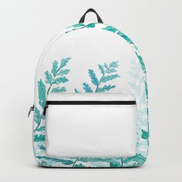 green fern watercolor Backpack