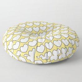 Sunshine & hearts Floor Pillow