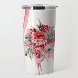 Flamingo Floral Travel Mug