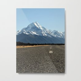 On the Road to Mt. Cook Metal Print