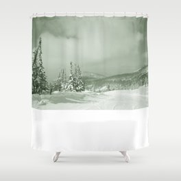 Winter day3 Shower Curtain