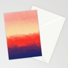 Flame Colors Abstract Stationery Cards