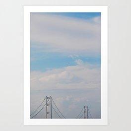 A bridge in the sky Art Print
