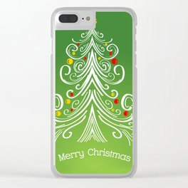 Christmas decorations 4 Christmas tree Clear iPhone Case