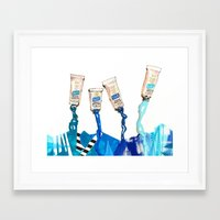 blues Framed Art Prints featuring Blues by ST STUDIO