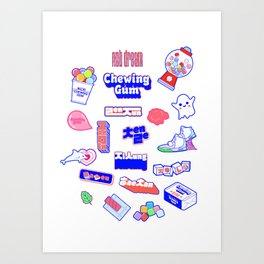 NCT DREAM CHEWING GUM Art Print