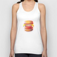 low poly Tank Tops featuring Mc Whopper Low Poly by Happy Motion