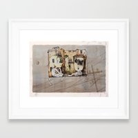 kids Framed Art Prints featuring Kids by Andreas Derebucha