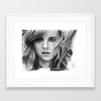 emma watson Framed Art Prints featuring Emma Watson by xDontStopMeNow