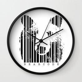 Bearcode Wall Clock