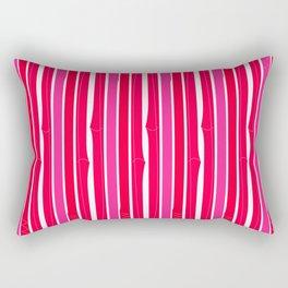 Design bamboo wild  Red elements Rectangular Pillow