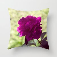 dc Throw Pillows featuring DC Flowers by Danielle