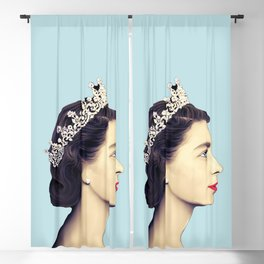 QUEEN ELIZABETH II - THE YOUNG QUEEN IN PROFILE Blackout Curtain