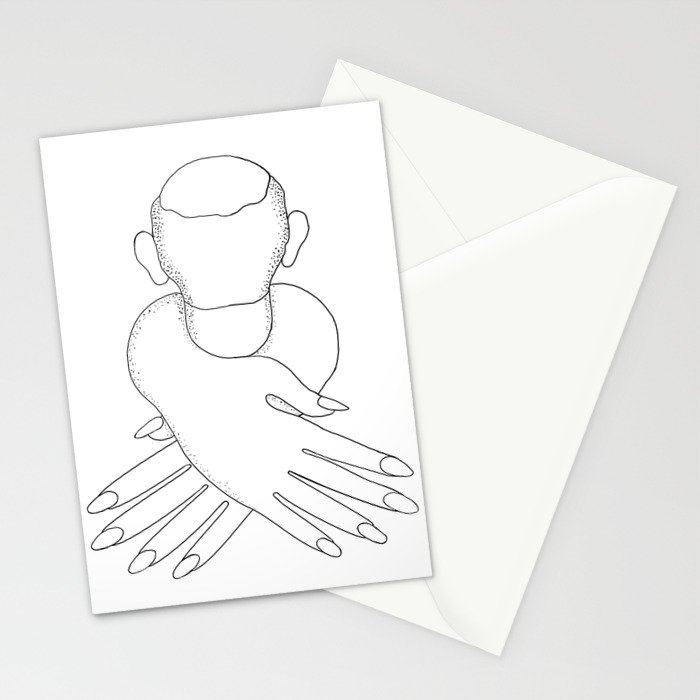 male in female hands Stationery Cards