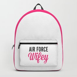 Air Force Wifey Quote Backpack