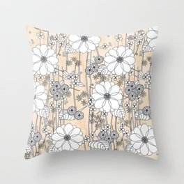 Sunset garden Throw Pillow