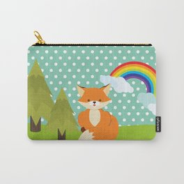 Fox, Rainbow , nursery decor , children gift, birthday gift Carry-All Pouch