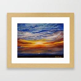 sun set Framed Art Print