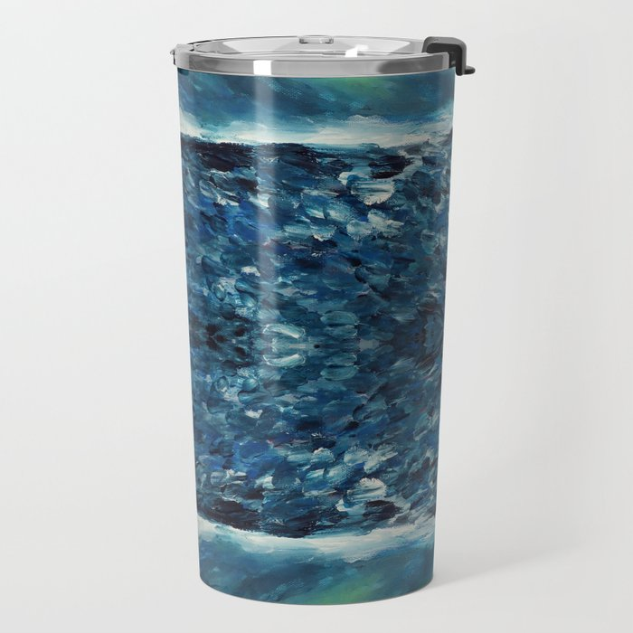 In the frost Abstract Painting Travel Mug