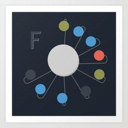 F-Clock Art Print